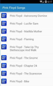 Pink Floyd Songs & Lyrics apk screenshot