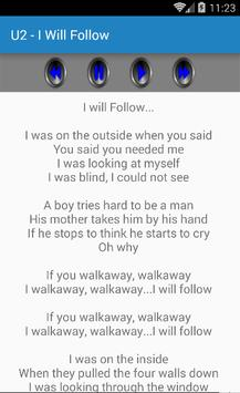 U2 Songs & Lyrics apk screenshot