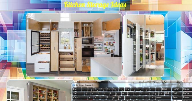 Kitchen Storage Ideas poster