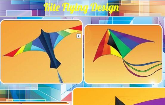 Kite Flying Design poster