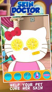Kitty Skin Trouble Doctor Salon apk screenshot
