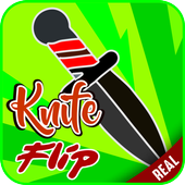 real knife flip icon