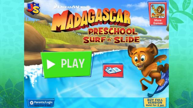 Madagascar Surf n' Slides Free poster