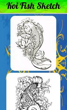 Koi Fish Sketch screenshot 1