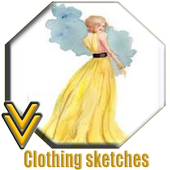 Collection of Sketches of Clothing icon