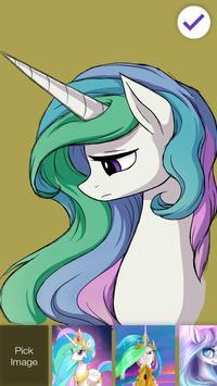 Celestia Little Pony Security Lock Screen poster