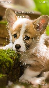 Cute Little Welsh Corgi Puppy Dog Lock Screen screenshot 1