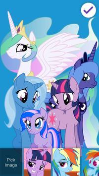 Cute Pony Princess Art Security App Lock poster