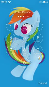 Cute Pony Princess Art Security App Lock apk screenshot