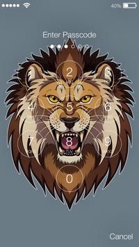 Beautiful Lion King Art Watercolor App Lock screenshot 1