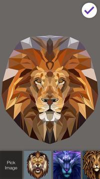 Beautiful Lion King Art Watercolor App Lock screenshot 2