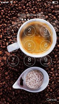 Black Coffee and Sweet Tasty Macarons Lock Screen apk screenshot