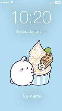 Kawaii Little Cute Funny Rabbit Bunny App Lock poster