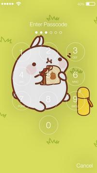 Kawaii Little Cute Funny Rabbit Bunny App Lock apk screenshot