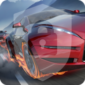 High Speed Sport Car Fire Lock Screen icon