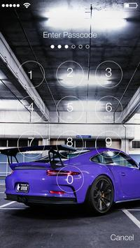 High Speed Sport Car Fire Lock Screen apk screenshot