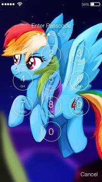 Little Pony Princess Friendship Art App Lock poster