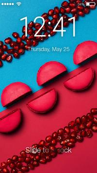 Sweet Colourful Macaron Delicacy Cakes App Lock apk screenshot