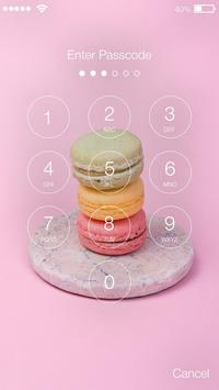 Sweet French Macaron Cake App Lock apk screenshot