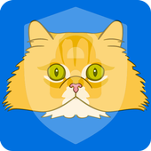 Puffy Cute Persian Cat Kitten App Lock icon