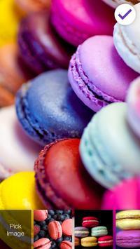 Rainbow French Sweet Macaron Security App Lock poster