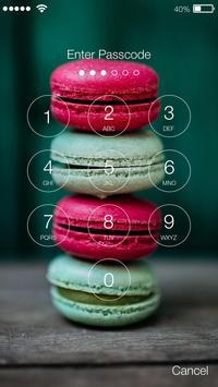 Rainbow French Sweet Macaron Security App Lock apk screenshot