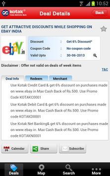 Kotak Offers apk screenshot
