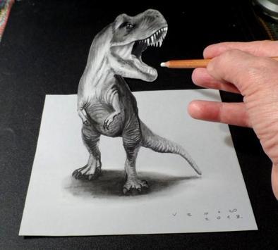 3D Art - 3D Drawing poster