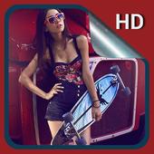HD Backgrounds: Skateboard icon