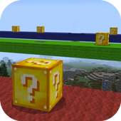 Lucky Block Race Map for MCPE icon