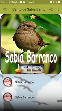 Canto de Sabia Barranco apk screenshot