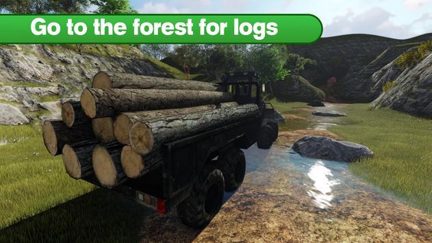 Lumberjack Logging Truck poster