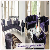 Luxurious guest chair icon