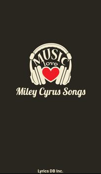 Miley Cyrus Album Songs Lyrics poster