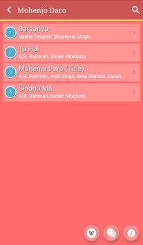Hit Mohenjo Daro Songs Lyrics apk screenshot