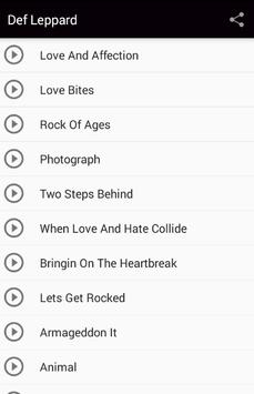 Def Leppard Love Bites Songs apk screenshot