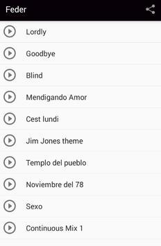 Feder Goodbye Songs screenshot 1