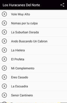 Los Huracanes Del Norte Songs screenshot 1