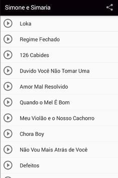 Simone e Simaria Musica 2017 apk screenshot