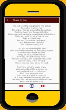 Ed Sheeran Lyric and Songs screenshot 2