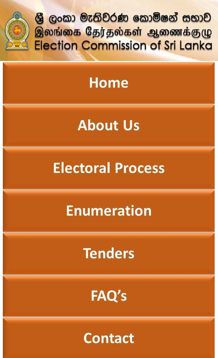 Election Commission Of Sri Lanka For Android Apk Download