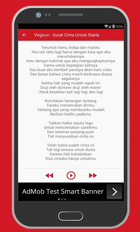 Virgoun Surat Cinta Starla For Android Apk Download