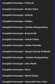 Song Dangdut Memories screenshot 2
