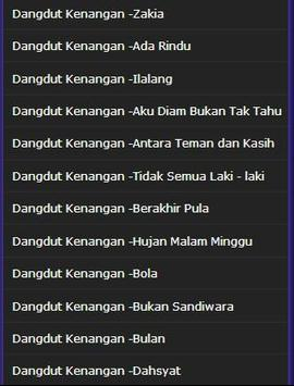 Song Dangdut Memories screenshot 5