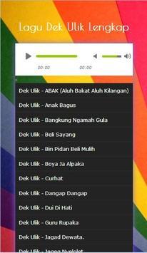 Kumpulan Lagu Dek Ulik Lengkap 2017 screenshot 1