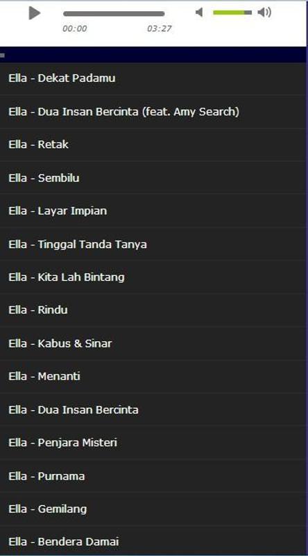 Download kumpulan lagu ella mp3 malaysia full album terpopuler.