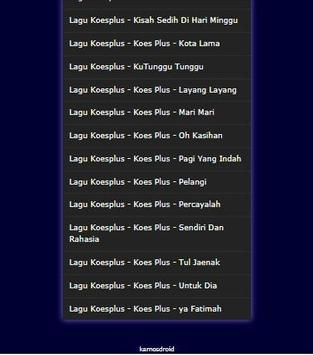 Lagu Koesplus Terbaik Sepanjang Masa Mp3 apk screenshot