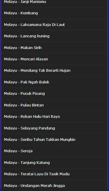 Lagu Melayu Top Mp3 Lengkap Full 2017 For Android Apk Download