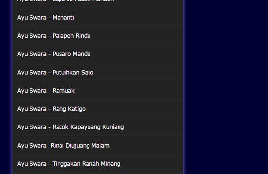 Lagu Minang Ayu Swara MP3 screenshot 2