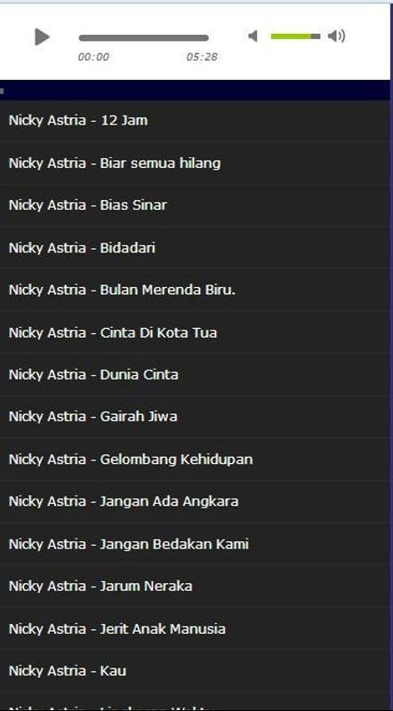 Free download lagu nicky astria biar semua hilang.